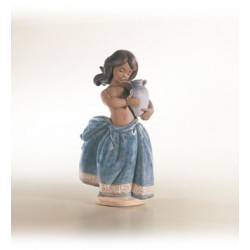 01012331 Little peasant girl (blue)