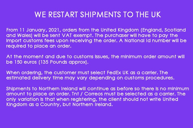 We restart shipments to the UK